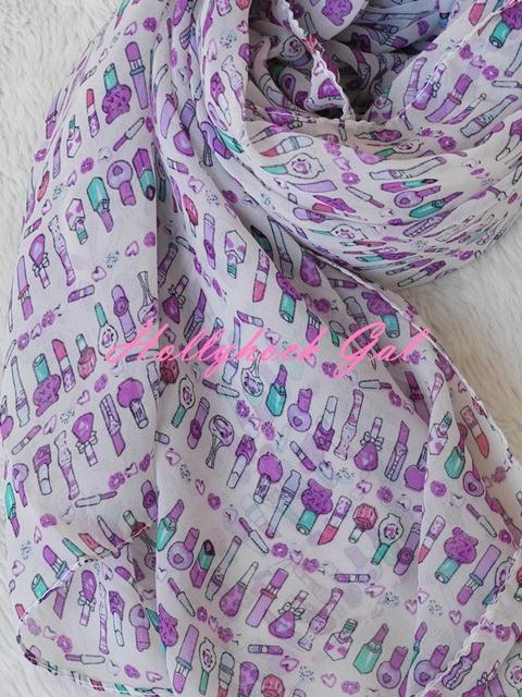 ผ้าพันคอ ชีฟอง  Silk chiffon เนื้อนุ่มนิ่มลื่น